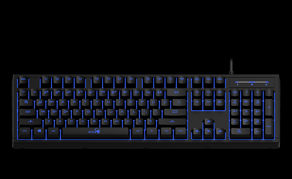 Teclado GX Scorpion K6 Blue Led Antighosting