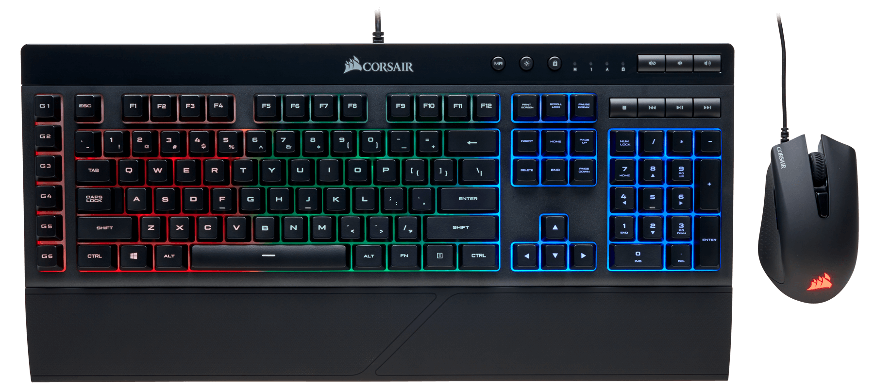 Teclado y Mouse Corsair K55 + Harpoon RGB