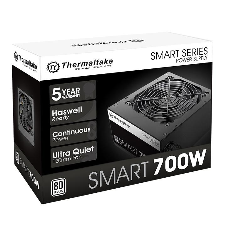 Fuente Thermaltake 700W Smart White 80 Plus