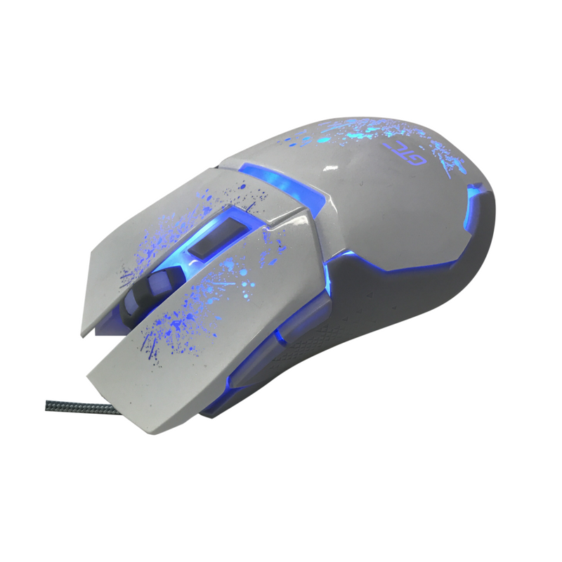 Mouse Play to Win White 6 botones 2400 DPI retroiluminado