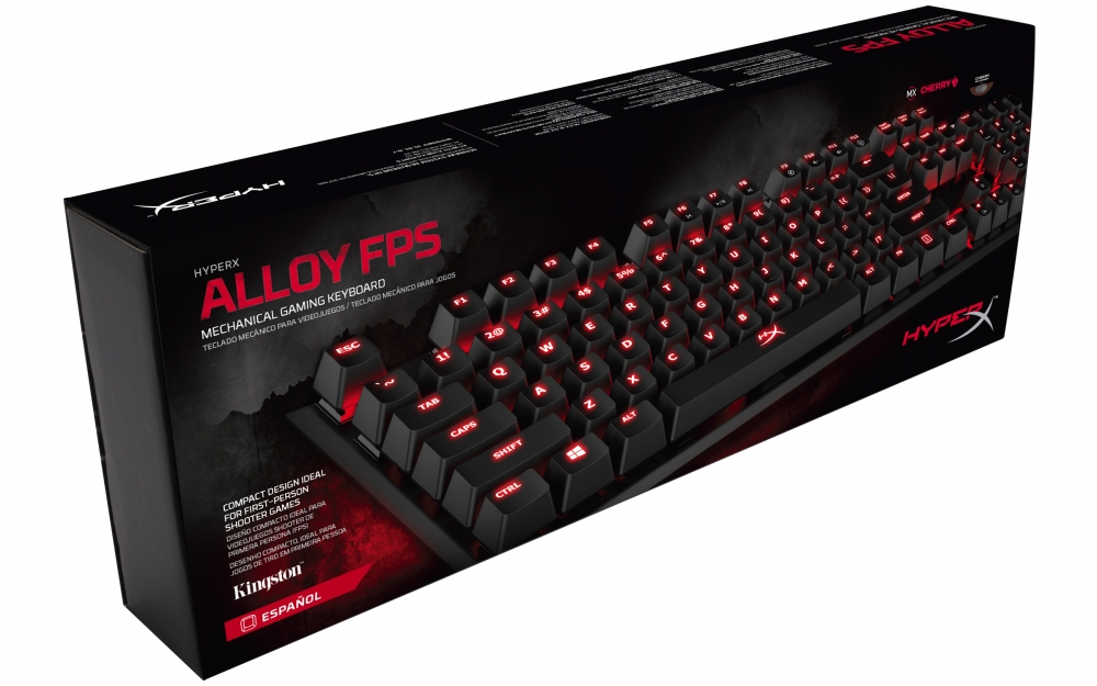 Teclado Mecanico HyperX Alloy FPS Cherry MX Red