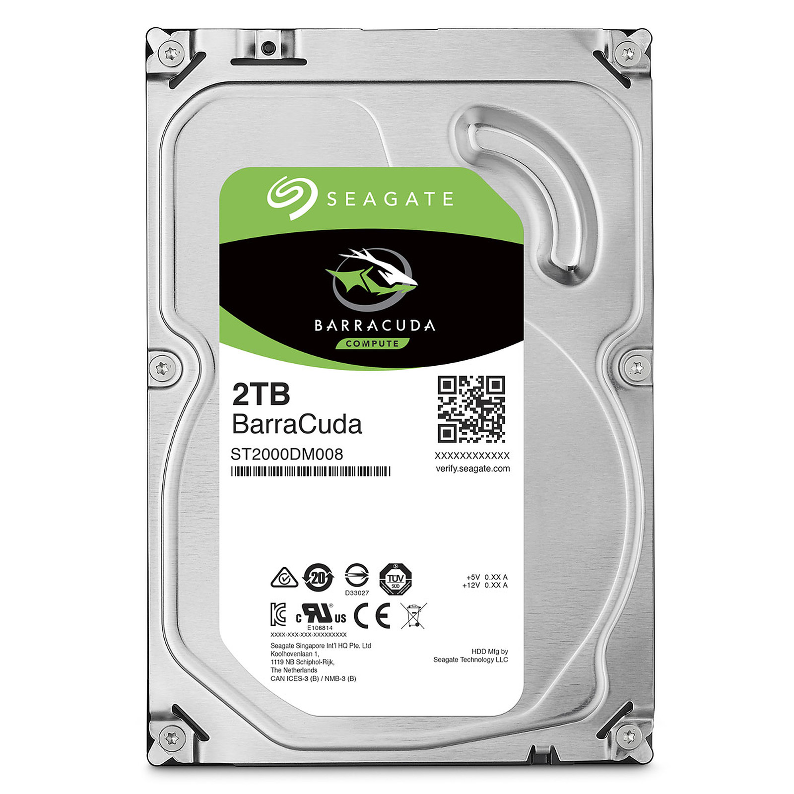 Disco Rigido 2 TB Seagate Barracuda SATA3