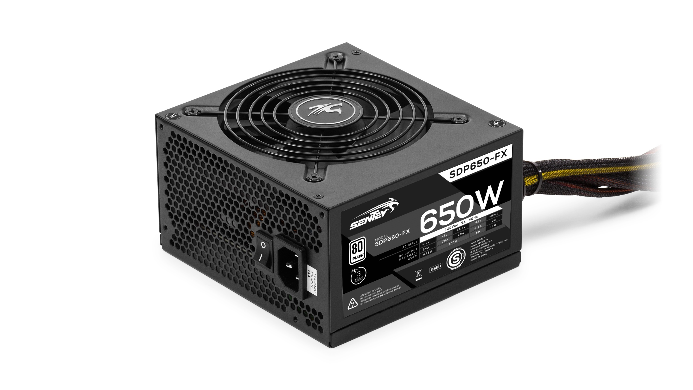 Fuente Sentey 650W 80 plus Solid Power