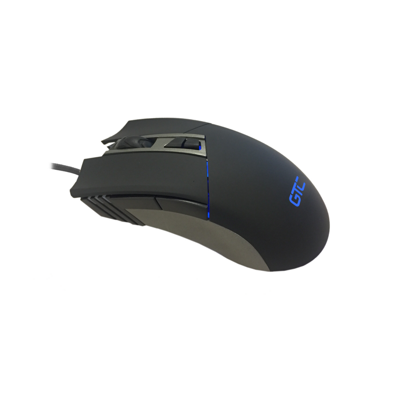 Mouse GTC Play to Win Black 7 botones 3200 DPI retroiluminado