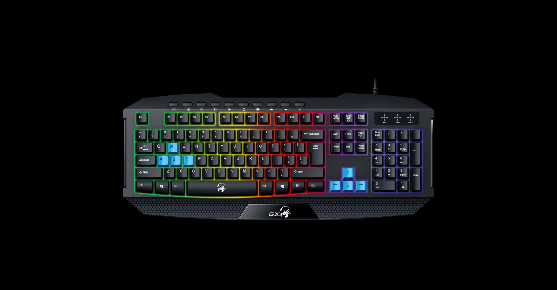 Teclado GX Scorpion K215 RGB Led Hotkeys
