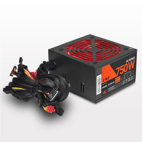Fuente Sentey LNZ 750W Red Fan LED
