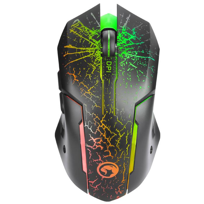 Mouse Marvo 7 colores 3200 DPI M207 RGB