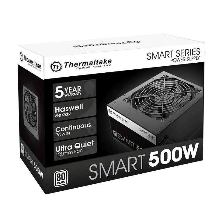Fuente Thermaltake 500W Smart White 80 Plus