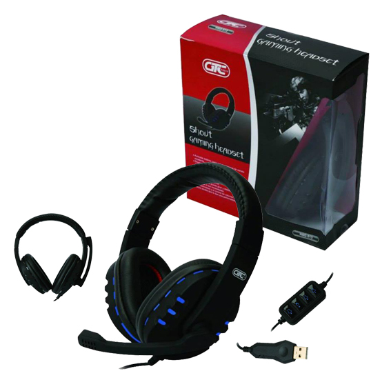 Auricular Gamer Shout PC PS4 c/mic USB LED