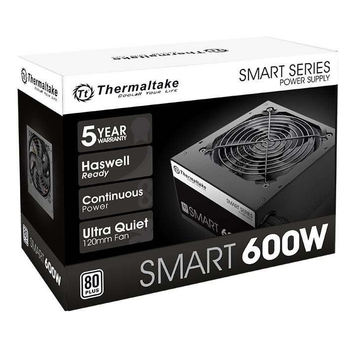 Fuente Thermaltake 600W Smart White 80 Plus