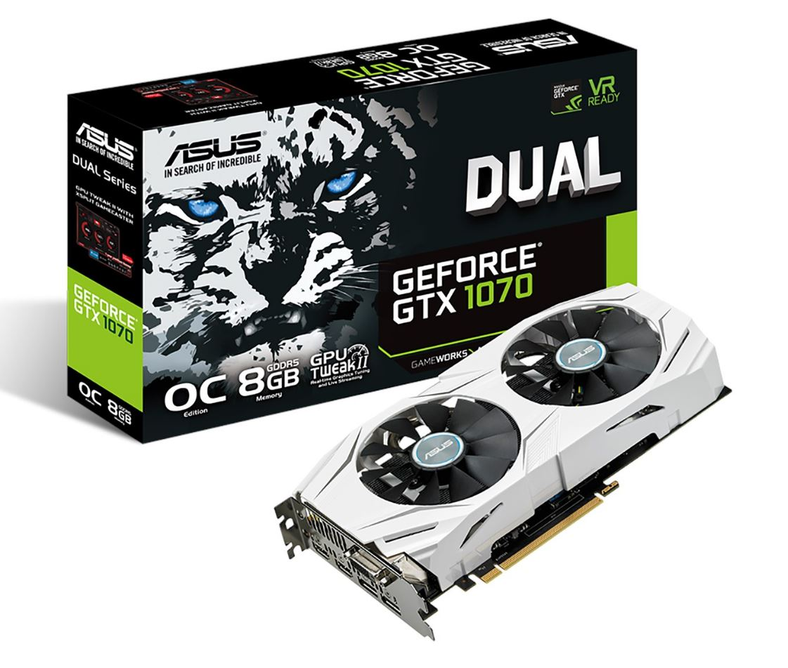 GTX 1070 8GB OC ASUS Dual Fan
