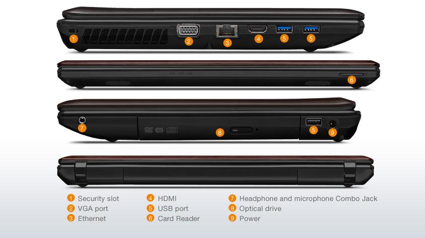 Notebook Lenovo G580 i5 4 GB 1 TB Disco Win 8 original