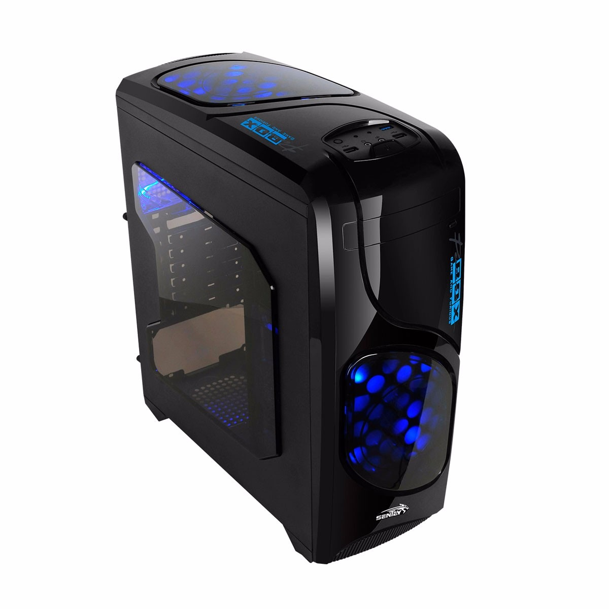 Gabinete Sentey Furious 2xFan Led Blue