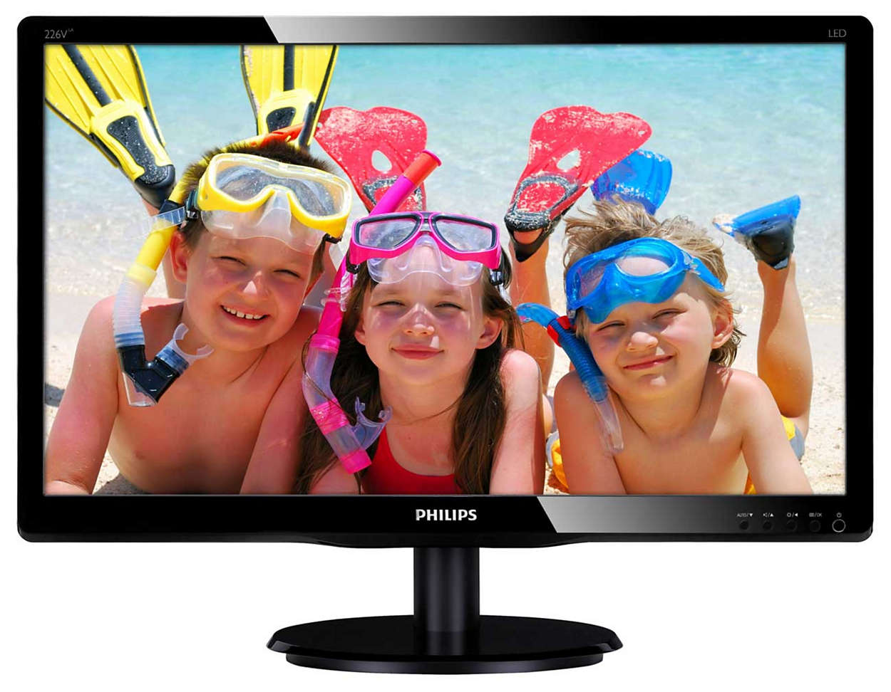 Monitor 22' LED Philips V-Line Full HD HDMI + VGA