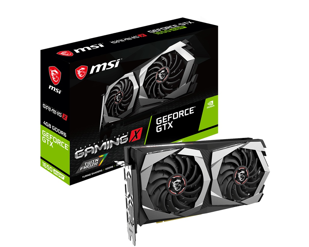 GTX 1650 SUPER 4GB GDDR6 MSI Gaming X Dual